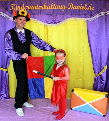 Kinderbetreuung und Animation bei Geburtstag, Schuleinführung und Hochzeit - Kinderunterhalter - Zauberer