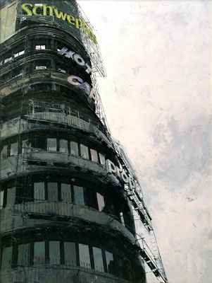 'Capitol' Oil on wood, 67 x 50 cm. *SOLD*