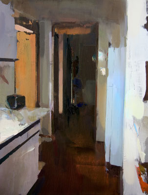 'Interior #115' Oil on wood, 60 x 45 cm. *SOLD*