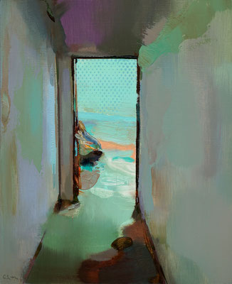 'Interior #162' Oil on wood, 38 x 31 cm *SOLD*