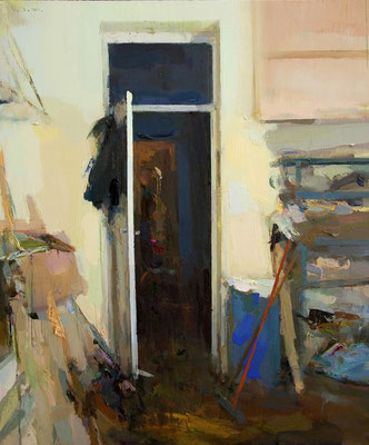 'Interior #119' Oil on wood, 60 x 50 cm. *SOLD*