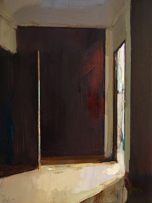 'Interior space #4' Oil on wood, 30 x 40 cm *SOLD*