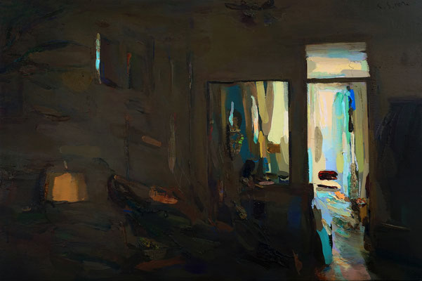 'Interior #149' Oil on wood, 40 x 60 cm. *SOLD*