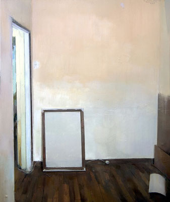 'Studio room' Oil on wood, 60 x 50 cm. *SOLD*