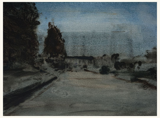 'Royal garden #2' Oil on Arches paper, 31 x 23 cm.