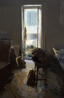 'Interior #136' Oil on wood, 90 x 60 cm. *SOLD*
