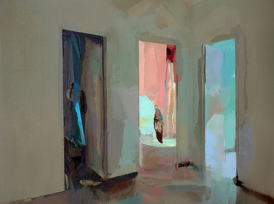 'Three doors' Oil on Arches paper, 30 x 40 cm *SOLD*