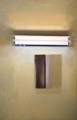 'Lamp and mirror' Oil on wood, 81 x 50 cm. *SOLD*