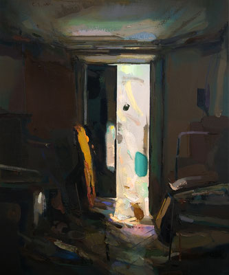 'Interior #142' Oil on wood, 60 x 50 cm. *SOLD*