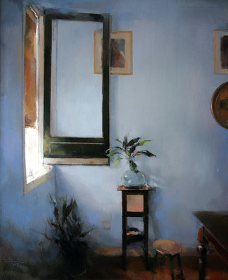 'Interior window' Oil on wood, 61 x 50 cm. *SOLD*