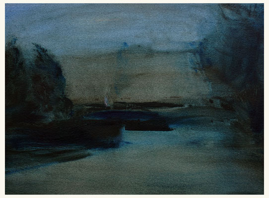 'Royal garden #3' Oil on Arches paper, 31 x 23 cm. *SOLD*