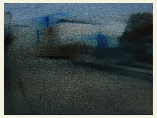 'Royal garden #1' Oil on Arches paper, 31 x 40 cm. Available on New Blood Art
