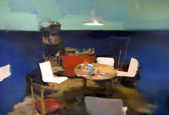 'Dining table' Oil on canvas, 70 x 116 cm. *SOLD*