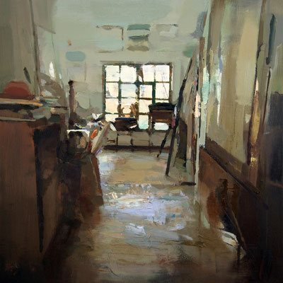'Interior #125' Oil on wood,  60 x 60 cm. *SOLD*