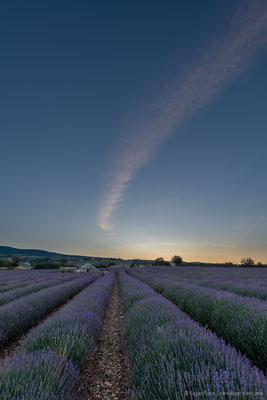 Morgendämmerung in Ferrassières