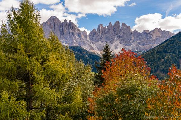 Südtirol: Dolomiten vom Villnösstal