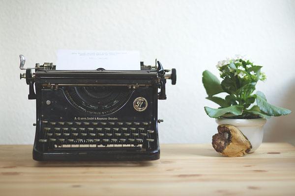 Vergangene Zeiten, vintage Schreibmaschine. © L. B.