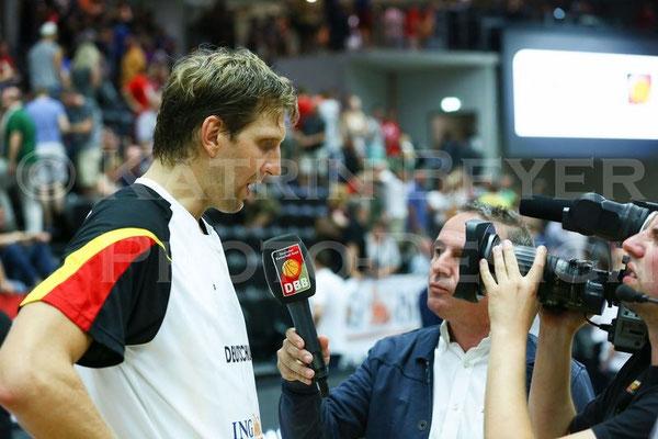 Dirk Nowitzki beim DBB-TV