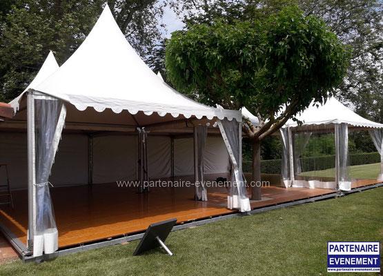 Plancher Garden avec arbre intégré terasse