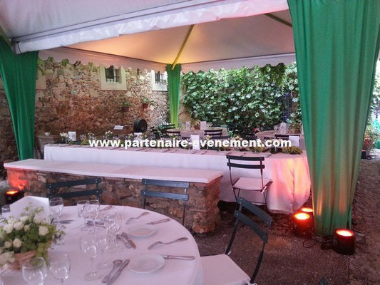 Réception dans tentes garden
