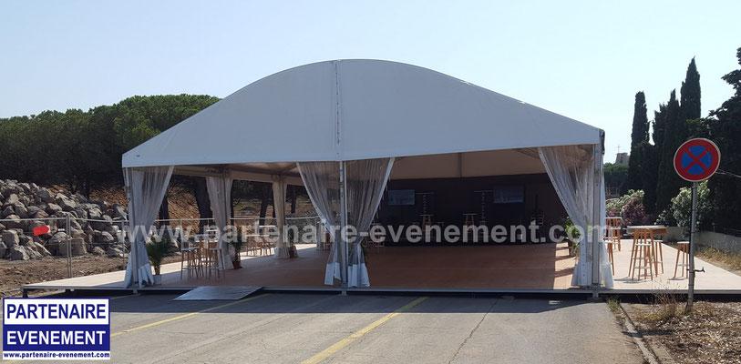 Structure 10m avec terrasses