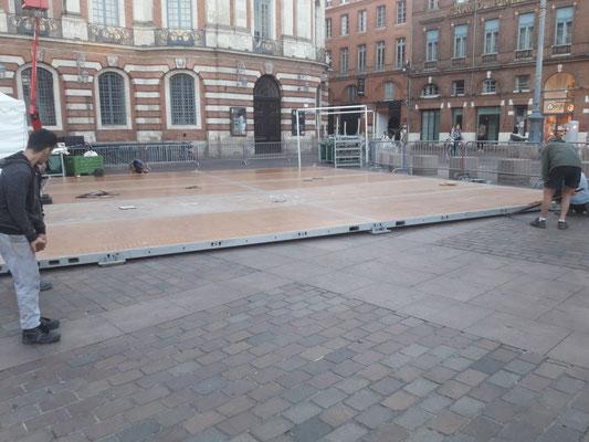 Plancher lesté structures 10m