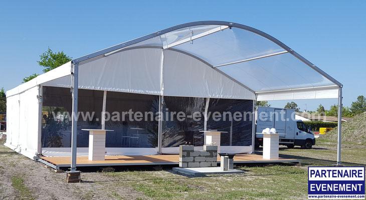 Structure 10m auvent cristal, terrasse