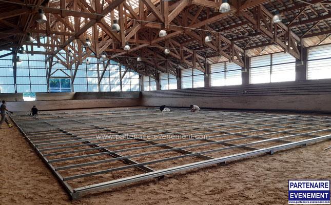 Plancher sur sable manège