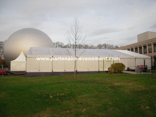 Structure 20m avec toit cristal