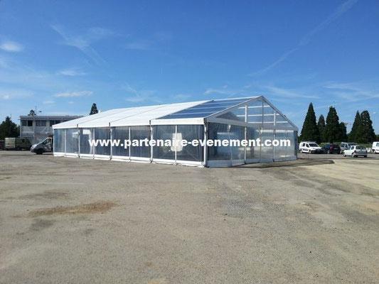Structure 15m avec toit cristal