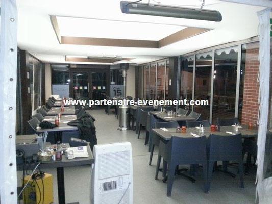 Aménagement restaurant dans tentes pagodes