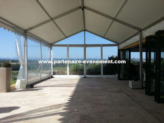 Structure 6m rideaux cristal