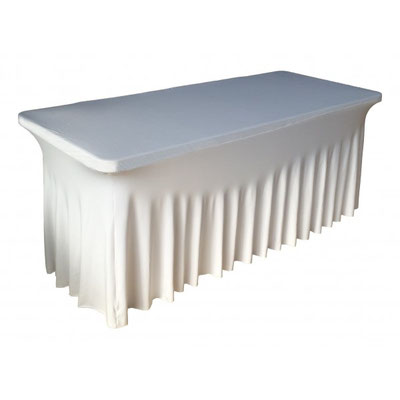 Table buffet Housse blanche