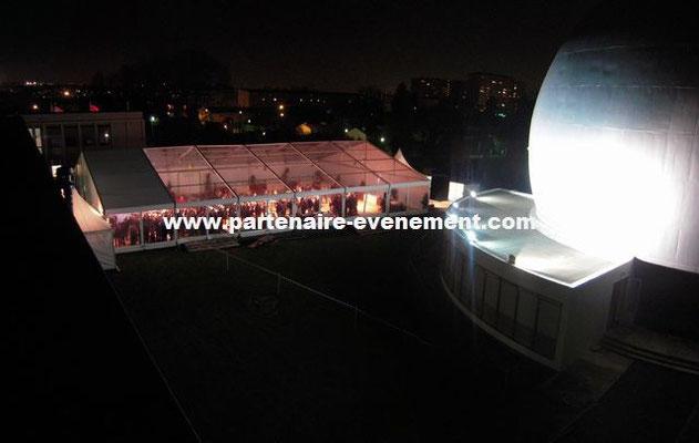 Structure 20m toits transparents