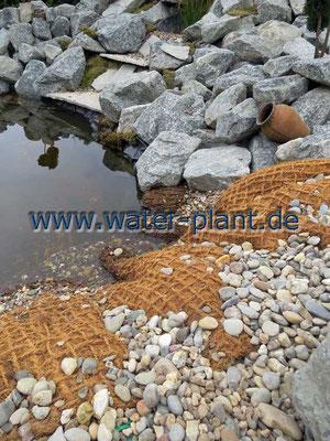 Teichufer mit Pflanzmatten gestalten