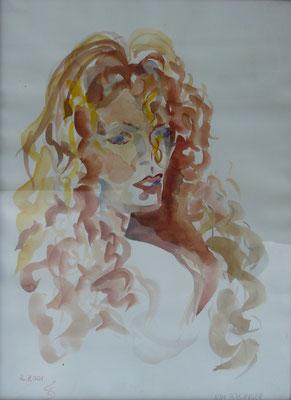 """""""KIM"""", Aquarell, 40 x 30 cm"""