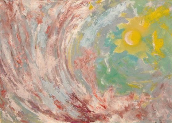 """""""o. T."""", Öl/Pappe, kaschiert, 50 x 70 cm"""