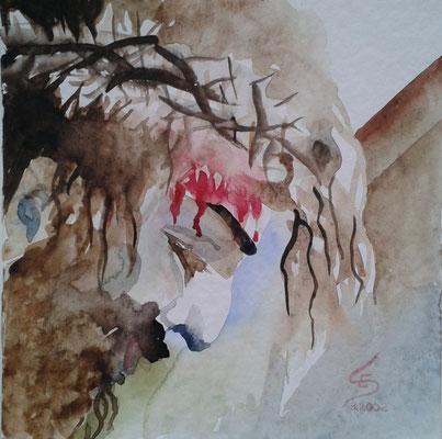 """""""Ostern, Aquarell, 25 x 25 cm"""