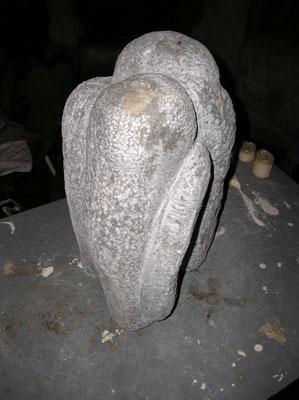 """Gruppe"", Mühldorfer Marmor, H 37 cm"