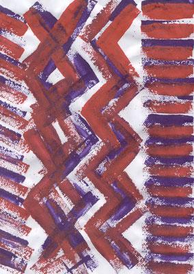actividad 1 : sellos de rectángulos con esponja.