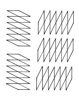 figure géométrique formée de losanges - modèles