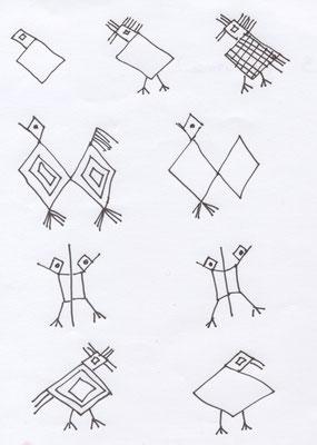 troisième activité : dessin animaux stylisés