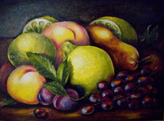 Mein Obstteller 30x40