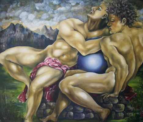 Hommage à Michelangelo 60x74