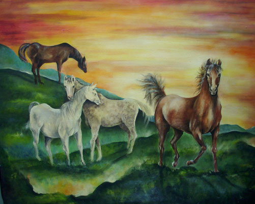 Pferde 80x100