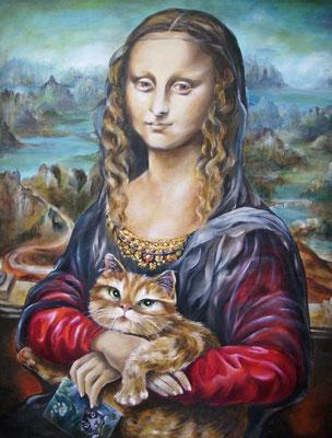 Hommage à Leonardo d.V.   I only like Felix 50x65