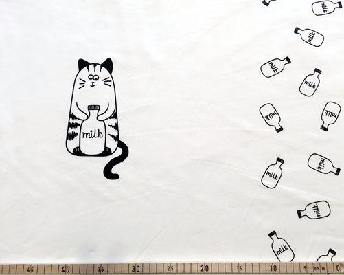 Katze Panel (48 X 160cm) weiß