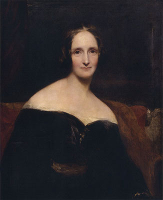 Mary W. Shelley by Richard Rothwell - Scan of a print. Original housed at the National Portrait Gallery NPG 1235