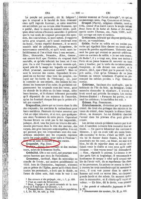1. Seite des Dictionnaire Infernal mit einer Zozo-Erwähnung #Zozo #Ouija #Medium #Spiritismus #paranormal