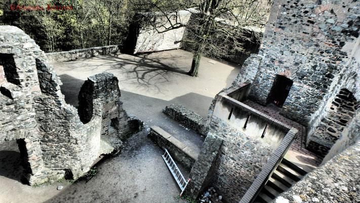 Blick in den Innenhof. #Frankenstein #ghosthunters #paranormal